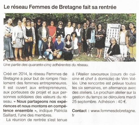 l'atelier savoureux ouest france femmes de bretagne